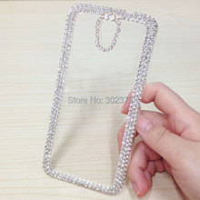 Clear Rhinestone Crystal Case Cover For HTC Desire 620 620G Hard Back Skin Case For HTC Desire 820mini Luxury Bling Diamond Case(China)