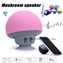 Cute Mini Speaker with Suction Cup for Smartphone Holder Mushroom Style Bluetooth Portable Speakers Wireless Music Player Xmas