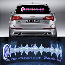 Light Pretty Sound Rhythm gift Glow Car Music Sticker LED Light Lemon Best Activated EQ EL Sheet Equalizer Flash Panel