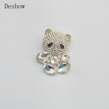 Cartoon animal bear brooch crystal point drill brooch jewelry factory direct sales new products listed(China)