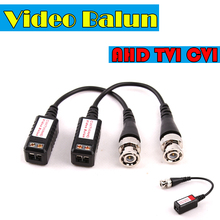 AHD/CVI/TVI CCTV Twisted BNC Passive Video Balun Transceiver COAX CAT5 Camera UTP Cable Coaxial Adapter for camera DVR(China)