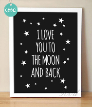 Love Quote Canvas Painting Art Print Poster, Wall Pictures For Child Room Home Decoration Print On Canvas,  FA128-61