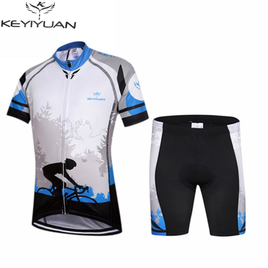 KEYIYUAN  Children Riding Cycling Jersey Short Sleeve Summer GEL Padded Shorts Set  Bicycle Wear<br>