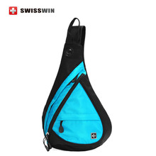 Swisswin Casual Shoulder Bags Fashion Sling Bag for Women and Men Small Waterproof Travel Chest Bag Sling Pack Bag Red Blue