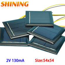 10Pcs/lot Polycrystalline Solar Panel Small Mini Solar Cell 2V 130mA Solar Cell Panel Battery Charger For DIY Study LED Light(China)