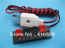 25 pcs Speaker Terminal Board Spring Loaded 4-Way With Adapter Plug 1.5m wire
