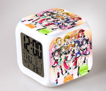 Japan Anime Love Live School Idol Project 7 Color Change Glowing Alarm Clock CC(China)