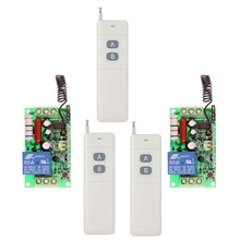 3000m High Power AC 220V 110V 1 CH 1CH RF Wireless Remote Control Switch System, (3 Transmitter+2 Receiver),315 /433.92