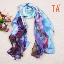 TA 2017 scarves manufacturers wholesale big silk scarves spring and summer new Hangzhou silkworm silk scarves