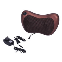 Electronic Heat Massage Pillow Massager Cushion Car Home Lumbar Neck Back Shoulder Relaxation Pillow Massage Devices Cushion(China)