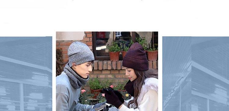 scarf gloves hat set women men winter scarf hat set winter hat scarf and glove set smart touch screen texting gloves set (3)
