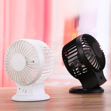 2017 Mini USB Rechargeable Fans Charging Lithium Battery Ventilador USB Fan Air Conditioning Air Cooler For Home School Office(China)