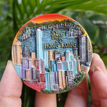 Victoria Harbour Hong Kong China Tourist Travel Souvenir 3D Resin Decorative Fridge Magnet Craft GIFT IDEA