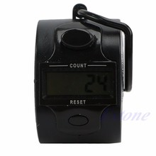 OOTDTY Mini Electronic Digital Red 5 Digit Hand Tally Counter(China)