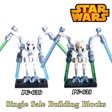 Buy 1PC Star Wars Building Blocks Super Heroes Diy Figures Silver Gold General Grievous Lightsaber Bricks Children Gift Toys for $1.24 in AliExpress store