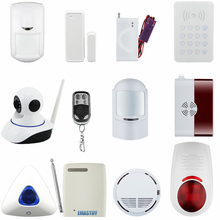 wireless alarm accessory IP camera/door/pir/siren/smoke/gas/water/password keypad sensor for  WiFi GSM GPRS SMS alarm system