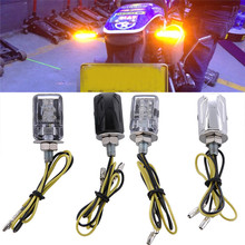 2Pcs 6 LED Motorcycle Bike Mini Turn Signal Light Indicator Blinker 12V Chrome/Black Wholesale