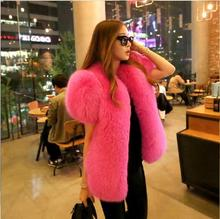 Natural Fur Fox Fur Coat Hubble Bubble Sleeve 2016 New Dress Fox Wool Vest Genuine Fox Hair Integral Skin Short Sleeved Vest Fur(China)