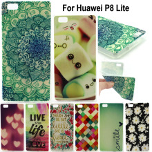 P8 Lite Covers Colorful Fashion Print Soft TPU Silicone Mobile Phone Back Case Cover For Huawei Ascend P8 Lite Shockproof Bags