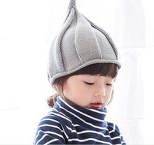 Retail Unisex Children Candy Color Pointy Beanies Knitted Hats Kids New Autumn Winter Onion modeling Wool Cap Skullies MZ2906
