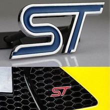 3d Car sticker auto body decals Metal Auto Front Hood Grille Grilles Badge EmblemS For Ford Blue ST Racing NEW