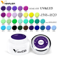 Venalisa 5ml white jar Pure Color nail Art gel Paint Gel Tips DIY Decoration CANNI Factory Price Painting LED&UV Gel paint(China)