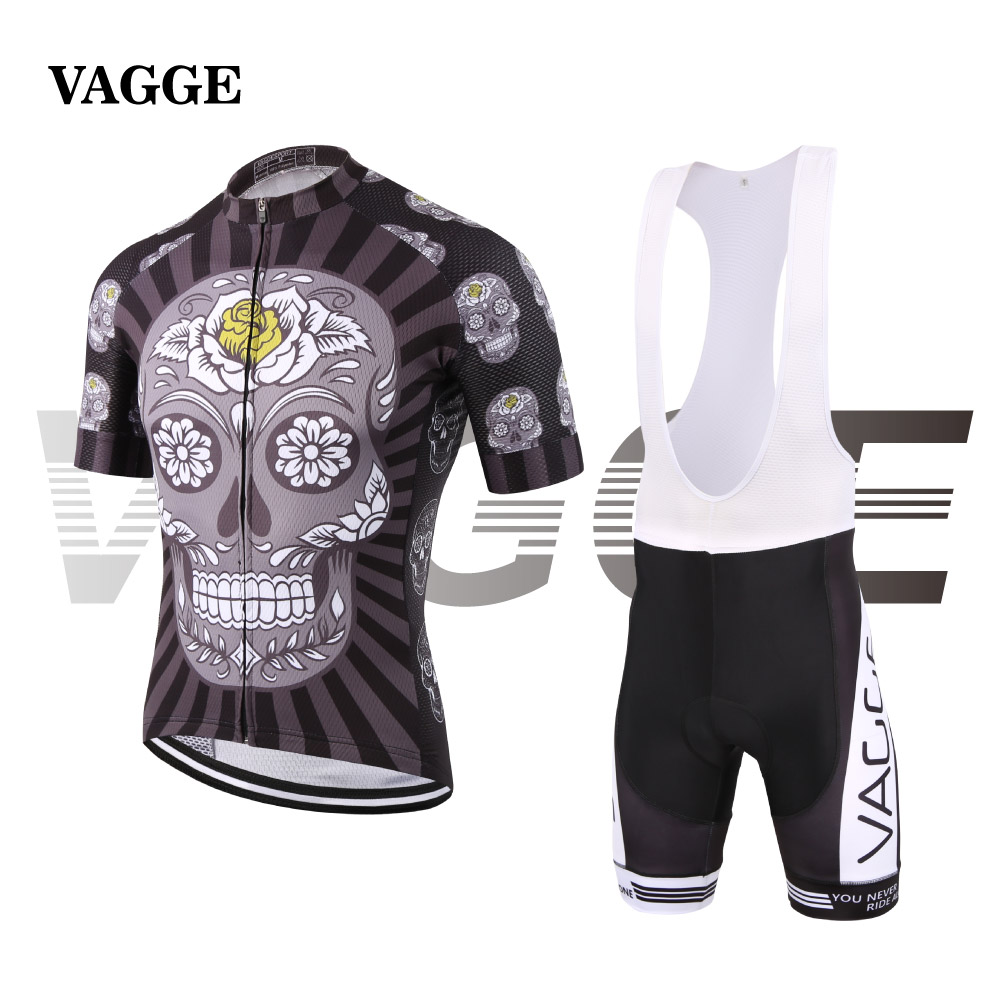 Skeleton new style unique cycling clothes for men/compression sublimation print cycling wear/quick dry long zip bike jersey set<br><br>Aliexpress