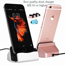 Original Sync Data Charging Dock Station Cellphone Desktop Docking Charger USB Cable For iPhone 7 6 6s Plus 5s Samsung Xiaomi