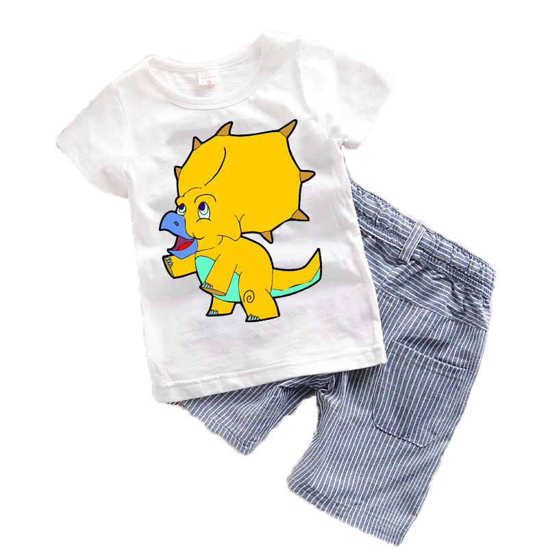 Cartoon Animal Toddler boy clothing sets Summer 2017 New Baby Boys clothes Spring Cotton Children clothing T-shirt+Shorts T12<br><br>Aliexpress