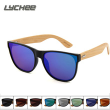 LYCHEE 2017 New omen Fashion Sunglasses Anti  Ultraviolet Film Sunglasses Sunscreen Ultra - Thin Side of bamboo glasses