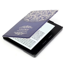 Customized Protective PU Leather Case Back Cover Printing Flower Luxury Cover For Amazon Kindle Oasis +stylus pen