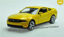 1:32 Scale Diecast Alloy Car Model For Ford Mustang GT 2012 Collection Pull Back Car Toys With Sound&Light-Yellow/Blue/White/Red