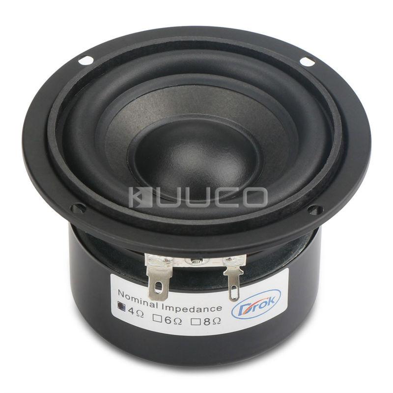 Woofer Speaker 3 inches 4 ohms Audio Loudspeaker 25W Hi-Fi Subwoofer Speaker Bass Antimagnetic Speaker for DIY speakers<br>