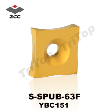 Original ZCC.CT S-SPUB-63F YBC151 Tungsten Carbide burring turning Insert cutter Chip removing steel tube pipe(China)