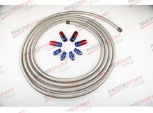 Stainless Racing Performance Automatic Transmission Cooler Line Kit BSH-66441(China)