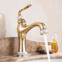 PVD Vacuum Coating Brass Basin Faucet Jade Mixer Cold and Hot Kitchen Faucet Zirconium Gold Bathroom Faucets Water Tap Torneira