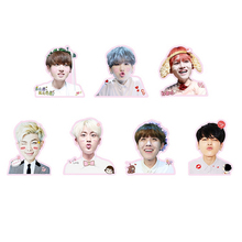 Youpop KPOP BTS Bangtan Boys WINGS V SUGA Album PVC Stickers For Luggage Cup Notebook Laptop Car Fridge DIY Stickers TZ001