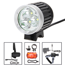 High Quality XM-L 3x T6 Bicycle Light Headlight 8000 Lumen LED Bike Light Lamp Headlamp+8.4V Charger+6400mAh Battery Pack Hot(China)