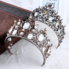 Vintage Baroque Queen King Royal Bridal Crowns For Women Wedding Pageant Prom Bride Tiaras and Crowns Wedding Head Decorations