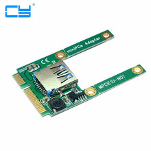 Mini PCI-E PCI-Express pcie pci express Half Height Port to USB 2.0 Adapter Card Mini Card to USB Flash Disk Wifi Wireless(China)
