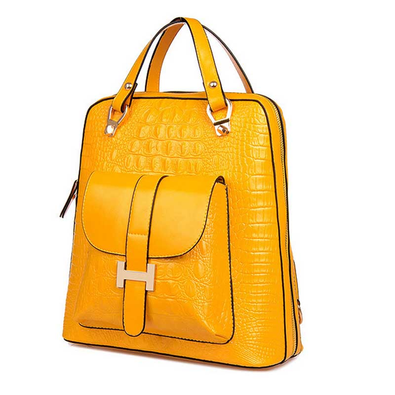 2015 famous top quality leather backpacks women yellow backpack shoulder bags bolsa mochila feminina XA529B<br><br>Aliexpress