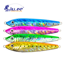 iLure Leaded iron plate Metal Jigging Spoon 16g/24g/30g/70g/123g 3D Eyes Artificial Pesca Bait Fishing Boat Jig Hard Bait(China)