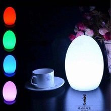 Novelty 14*18cm Egg Shape LED USB Chargeable Night Light 16 Color Changeable For Party Bedroom Christmas Decorative Table Lamps