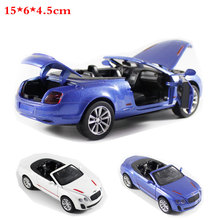 1:32 High Simulation Pull back Model Toy Model Sports car Bentley Vehicle Model Alloy 1/32 Car Model toys For children(China)