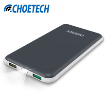 CHOETECH 10000mAh Power Bank for iPhone Dual USB Output Mobile Phone Portable Charger External Battery for Samsung S8 Powerbank(China)