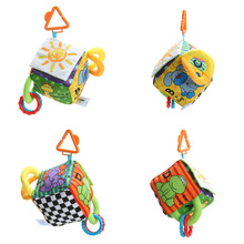 Baby Soft Plush Rattle Toy Cute Animal Cloth Book Baby Teether Infant Early Educational Toy