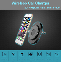 2017 High Tech Wireless car charger Vacuum adsorbed Universal charger Mobile phone holder multi-function(China)