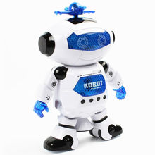 2016 New Superhero Dance Electric Robot With Light Music Musical Toys For Children Infant Adult Action Figures(China)
