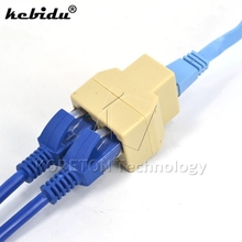 kebidu RJ-45 SOCKET RJ45 Adapter Splitter Connector LAN Ethernet Network modular plug for PC cable contact CAT5 CAT6 Coupler(China)