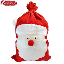 Large Christmas Festive Red White Trim Gift Bag Presents Santa Sack Xmas Accessories Decor Father Present Kids Gift Toy Storage